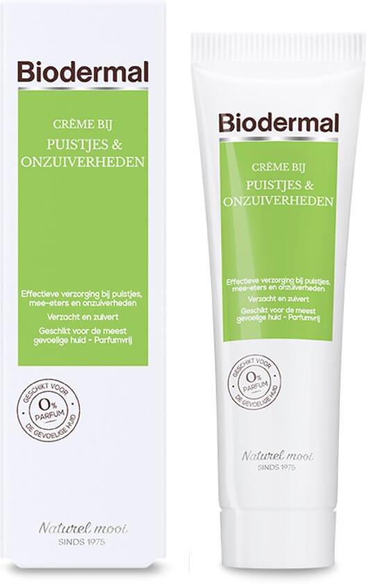 Beste acnes creme van de redactie biodermal tegen puistjes en onzuiverheden
